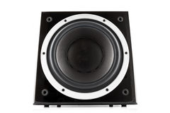 Black high gloss subwoofer Stock Photo