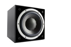 Black high gloss subwoofer Stock Images