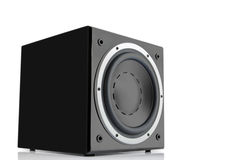 Black high gloss subwoofer Royalty Free Stock Photography
