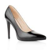 Black, high heel, elegant shoe Royalty Free Stock Photography