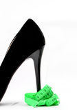 Black high heel isolated on white background, Royalty Free Stock Photography