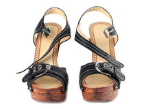 Black high heel shoes Stock Photo