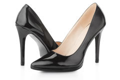 Black high heel shoes for woman Royalty Free Stock Photo