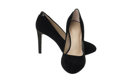 Black high heel stiletto shoes Stock Images