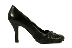 Black high heel woman shoe. On white background Royalty Free Stock Images
