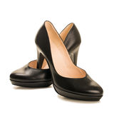 Black high heel women shoes Royalty Free Stock Images
