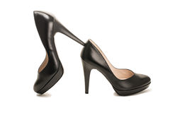 Black high heel women shoes Royalty Free Stock Image