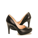 Black high heel women shoes Royalty Free Stock Photo