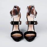 Black high heel women shoes Royalty Free Stock Photos