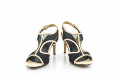 Black high heel women shoes. Royalty Free Stock Photo