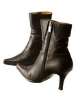 Black high heeled boots Royalty Free Stock Photography