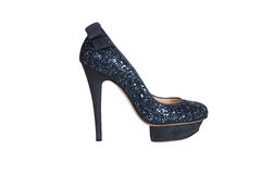 Black high heeled shoes Royalty Free Stock Image