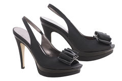 Black high heeled shoes Royalty Free Stock Photos