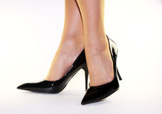 Black high heels Royalty Free Stock Photos