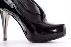 Black high heels shoes Royalty Free Stock Image