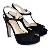 Black high heels  shoes Royalty Free Stock Photography