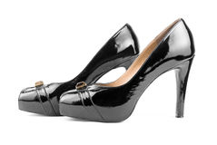 Black high heels shoes Royalty Free Stock Photo