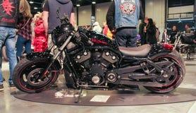 Black high-speed motobike. Royalty Free Stock Images