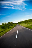 Black highway road Royalty Free Stock Images