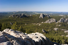 Black Hills. View of the Black Hills from the Harney Peak Trail Royalty Free Stock Images