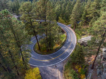 Black Hills Pigtail Bridge. Pigtail bridge along the Needles Highway in the Black Hills of South Dakota Royalty Free Stock Images