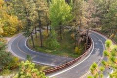 Black Hills Pigtail Bridge. Pigtail bridge along the Needles Highway in the Black Hills of South Dakota Stock Photo