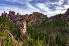 Black Hills of South Dakota. Along the Needles Highway in South Dakota Stock Photo