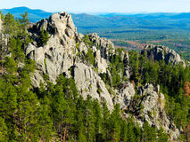 Black Hills, South Dakota. Taken from the top of Custer State Park in the Black Hills of South Dakota Stock Photo
