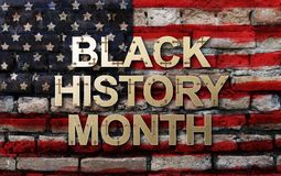 Black History Month African-American History Month  background design for celebration and recognition in the month of February royalty free stock photos