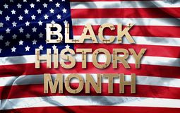 Black History Month African-American History Month  background design for celebration and recognition in the month of February.  royalty free stock images
