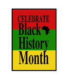 Black History Month royalty free illustration