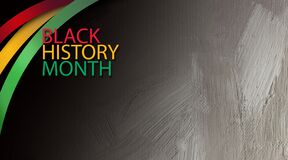Free Black History Month Title Treatment With Ribbons Graphic Background Stock Photo - 169710300