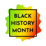 Black history month. Vector illustration background with red, yellow, green spot and black frame. Black history month vector illustration