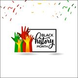 Black History Month Vector Template Design Illustration. Black History Vector Template Design Illustration royalty free illustration