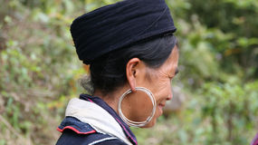 Black Hmong profile Royalty Free Stock Photos