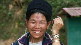 Black Hmong smile Royalty Free Stock Photography