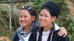 Black Hmong smiles Stock Photo