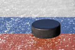 Black hockey puck Royalty Free Stock Photos