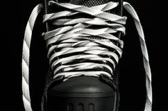 Black hockey skate Royalty Free Stock Images