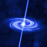 Black Hole Absorbs Remnants of a Matter Star Stock Photo
