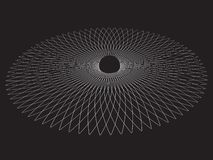 Black hole. Abstract vector background royalty free illustration