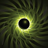 Black Hole. A black hole backdrop at the edge of time and space vector illustration