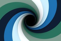 Black hole blue color Royalty Free Stock Photography