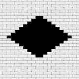 A black hole in a brick wall 3D render Stock Images