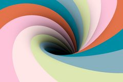 Black hole color. The black hole in the blue pink color 3D illustration Stock Photos
