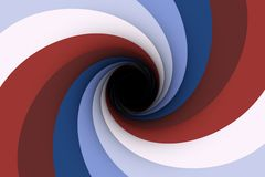Black hole  contrasting brown Royalty Free Stock Photography