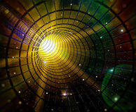 Black hole. 3d image of a wormhole / black hole Stock Photography