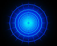 Black hole. 3d image of a wormhole / black hole Royalty Free Stock Images