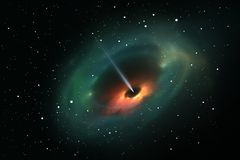 Black hole in deep space Stock Photo
