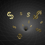 Black hole dollar Stock Photography